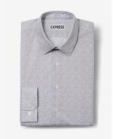 Express slim fit micro print dress shirt