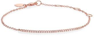 Meira T Diamond & 14K Rose Gold Bar Chain Bracelet