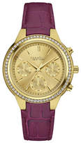 Caravelle New York Chronograph The Boyfriend Collection Leather Strap Watch