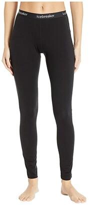 Icebreaker 150 Zone Merino Base Layer Leggings (Black/Mineral) Women's Casual Pants