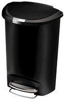 Simplehuman studio 50 Liter Plastic Semi-Round Step Trash Can - Black
