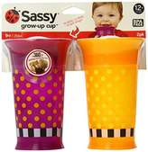 Sassy 2 Count Grow Up Cup, Purple/Orange, 9 Ounce by