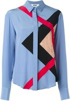 MSGM lace panel shirt - women - Silk - 48