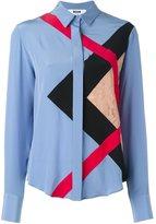 MSGM lace panel shirt