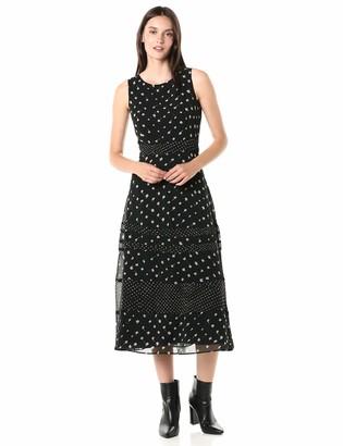 Taylor Made Taylor Dresses Women's Sleeveless Dot Printed Midi Dress Casual Night