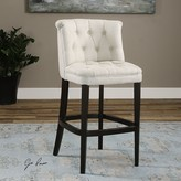 The Well Appointed House Diamond Tufted Bar Stool