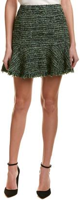 Rebecca Taylor Boucle Wool-Blend Mini Skirt