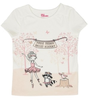 Epic Threads Little Girls Short Sleeve Dancing Woods Graphic Mix and Match Tee