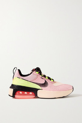 Nike Air Max Verona Embroidered Leather And Mesh Sneakers - Baby pink