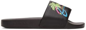 Gucci Black Hawaii Pool Slides
