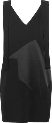Victoria Victoria Beckham Paneled Twill, Satin And Crepe Mini Dress