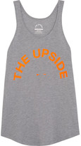 The Upside Issy Printed Jersey Tank - Light gray