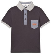 BOSS Charcoal and Grey Branded Polo