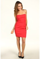 Vera Wang Multi Stretch Satin Strapless Dress Women's Dress