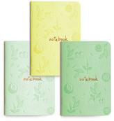 Les éditions du Paon Flower Notebooks - Set of 3