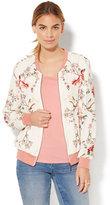 New York & Co. Bomber Jacket - Floral & Bird Print