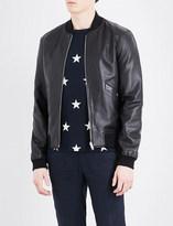 Sandro Reversible leather bomber jacket