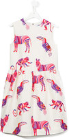 MSGM animal print dress - kids - Cotton/Polyester - 14 yrs