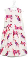MSGM animal print dress