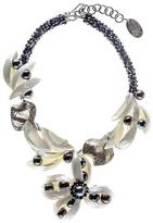 Black Mother of Pearl and Pearl Statement Necklace
