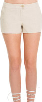 Max Studio Cotton And Linen Doubleweave Shorts