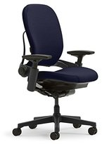Steelcase Leap Plus Task Chair: Fully Adjustable - Live Back Technology - Natural Glide System - Thermal Comfort - Firmness Control - Adjustable Arms/Seat Depth - Navy