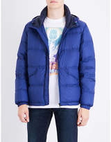Ps By Paul Smith Blue Quilted Concealed Zip Jacket