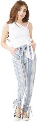 Habitual Stripe Belted Paperbag Pants