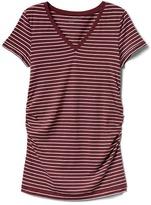Gap Maternity Pure Body stripe V-neck tee