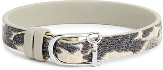 KEEP Collective Snake Embossed Reversible Leather Band Charm Bracelet