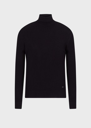 Emporio Armani Rollneck With Ribbed Pattern