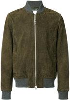 Officine Generale contrast trim bomber jacket
