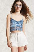 Forever 21 FOREVER 21+ Distressed Cuffed Denim Shorts