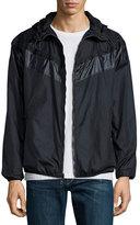 Rag & Bone Nylon Hooded Wind-Resistant Jacket, Navy
