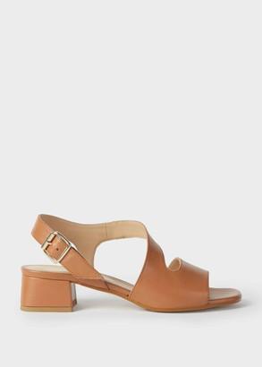 Hobbs Leather Block Heel Sandals