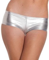 TONSEE Women Sexy Shiny Stretchy Metallic Mini Shorts Hot Pants ( Gold)
