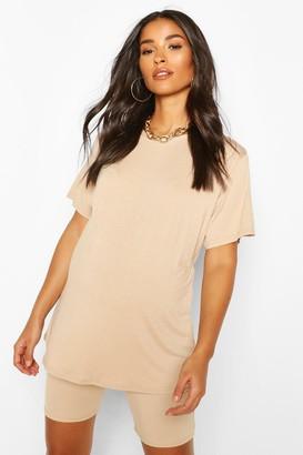 boohoo Maternity Oversized T-Shirt & Short Lounge Set