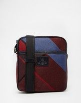 Vivienne Westwood Tartan Flight Bag - Blue
