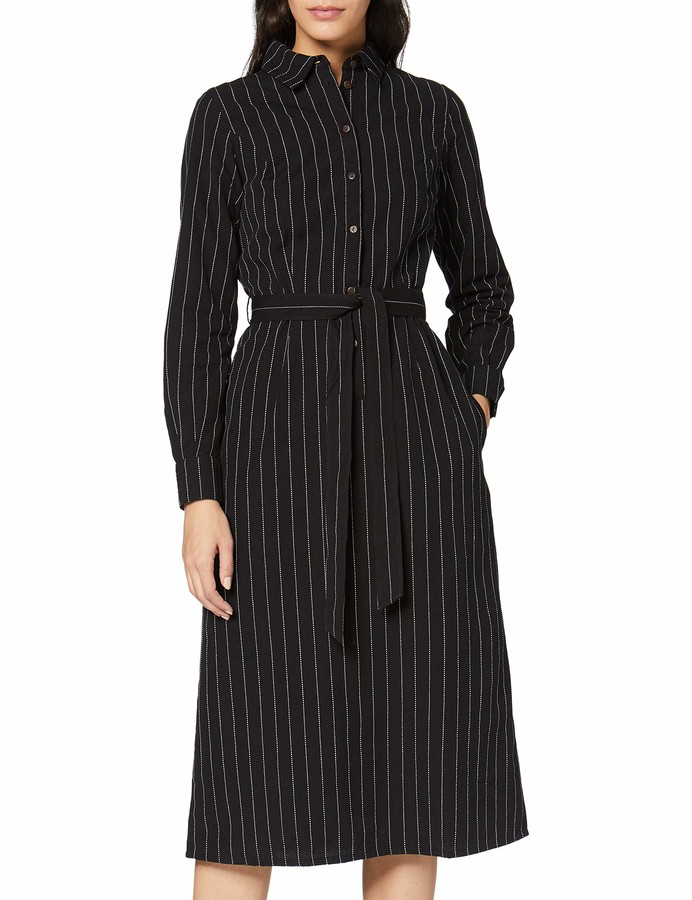 People Tree Peopletree Women's Isadora Pinstripe Shirt Dress