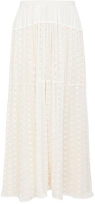 Chloé Bohemian Silk Maxi Skirt