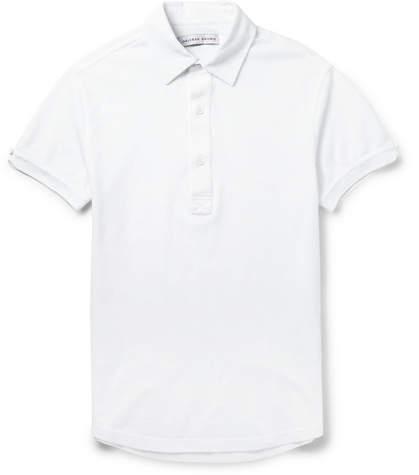 Orlebar Brown Sebastian Slim-fit Cotton-pique Polo Shirt - White