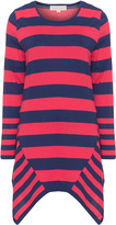 Isolde Roth Plus Size Asymmetric striped jumper