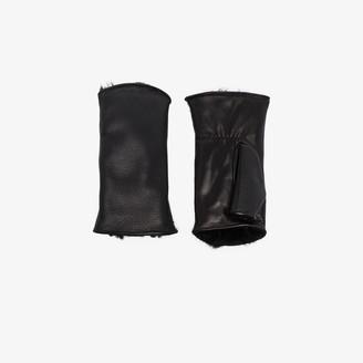 Agnelle black Pauline lambskin fingerless gloves