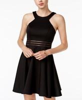Thumbnail for your product : City Studios Juniors' Illusion-Waist Scuba Fit & Flare Dress