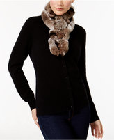 Surell Rex Rabbit Fur Ladder Scarf