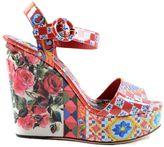 Dolce & Gabbana Bianca Wedge Sandals
