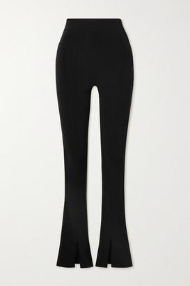 Norma Kamali Spat Stretch-jersey Flared Leggings - Black