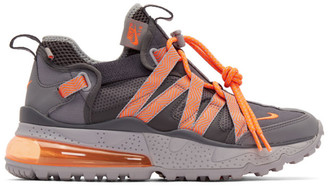 Nike Grey and Orange Air Max 270 Bowfin Sneakers