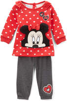 Children's Apparel Network Minnie Mouse Red Polka Dot Top & Pants Set - Infant