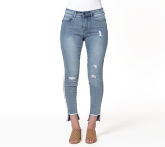 Lola Jeans High-Rise Staggered Hem Skinny Jeans